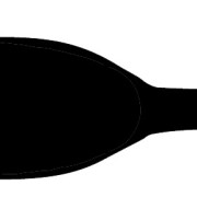Flat-slumped-bottle pattern w black center